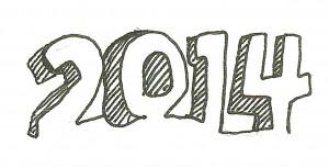 1.2014年だけの記念ロゴマークを作りました
