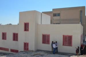 増築した教室の建物
