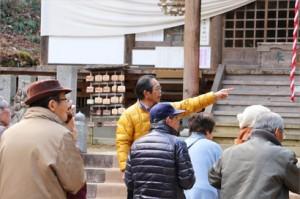 丸森の住民の方が台風の被害のあった様子をご説明くださいました。